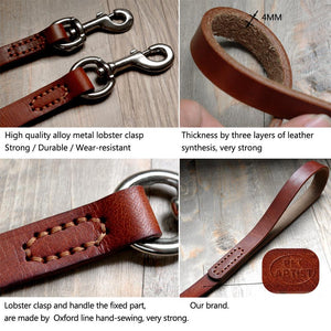 Leather Dog Leash - Brown