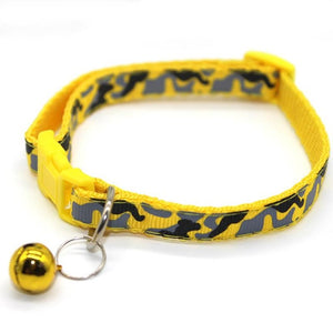 Cat Collar with Bell - Yellow
