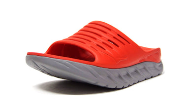 HOKA ONE ONE ORA RECOVERY SLIDE  M.RED/L.GRY 1