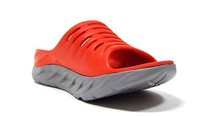 HOKA ONE ONE ORA RECOVERY SLIDE  M.RED/L.GRY 5