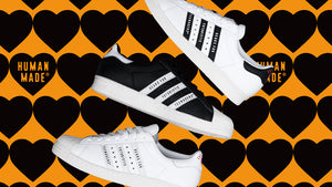 "adidas SUPERSTAR80S ""HUMAN MADE""  WHT/BLK/NAT/RED/GLD 7"