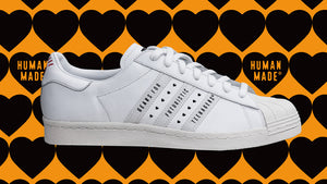 "adidas SUPERSTAR80S ""HUMAN MADE""  WHT/NAT/RED 8"