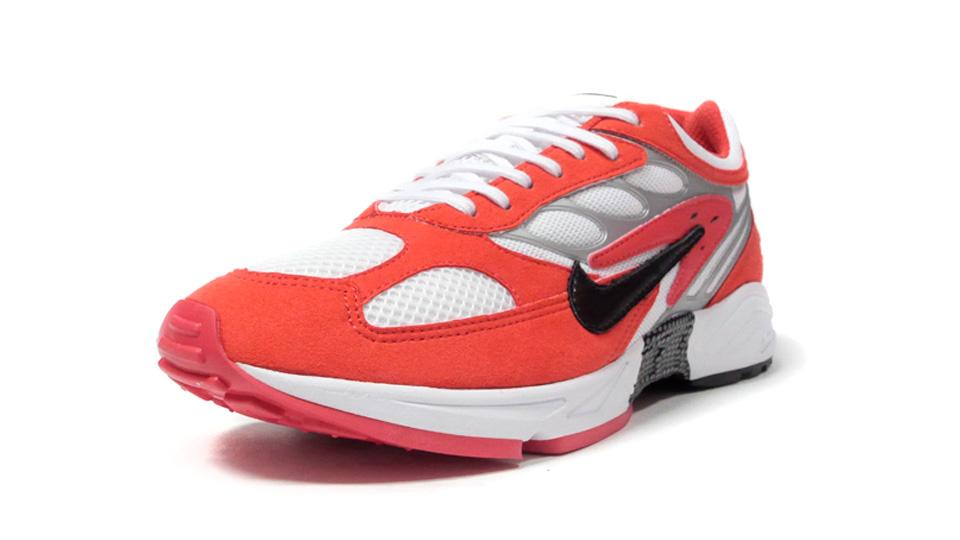 NIKE AIR GHOST RACER HABANERO RED/BLACK/WHITE/METALIC SILVER/HABANERO RED  1