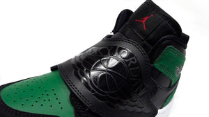 NIKE SKY JORDAN 1 PS BLACK/BLACK/PINE GREEN/GYM RED  6