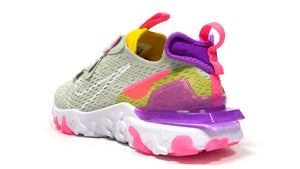"NIKE (WMNS) REACT VISION ""D/MS/X"" PISTACHIO FROST/WHITE/VIVID PURPLE/SPEED YELLOW/PINK 2"