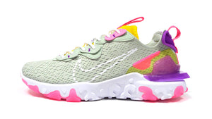 "NIKE (WMNS) REACT VISION ""D/MS/X"" PISTACHIO FROST/WHITE/VIVID PURPLE/SPEED YELLOW/PINK 3"