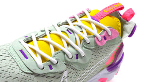 "NIKE (WMNS) REACT VISION ""D/MS/X"" PISTACHIO FROST/WHITE/VIVID PURPLE/SPEED YELLOW/PINK 6"