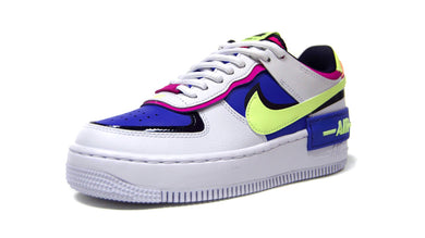 NIKE (WMNS) AIR FORCE 1 SHADOW  WHITE/BARELY VOLT/SAPPHIRE/FIRE PINK/BLANKET BLUE 1