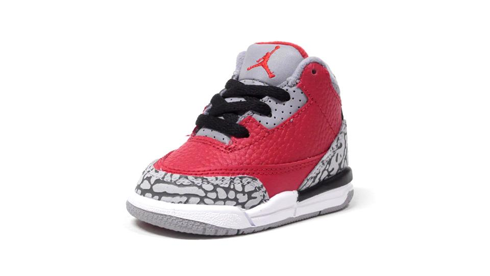 NIKE JORDAN 3 RETRO SE TD VARSITY RED/VARSITY RED/CEMENT GREY/BLACK  1