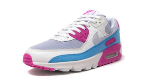 NIKE (WMNS) AIR MAX 90 GREY/SUMMIT WHITE/PINK/BLUE  1
