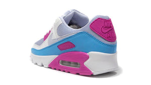 NIKE (WMNS) AIR MAX 90 GREY/SUMMIT WHITE/PINK/BLUE  2