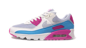 NIKE (WMNS) AIR MAX 90 GREY/SUMMIT WHITE/PINK/BLUE  3