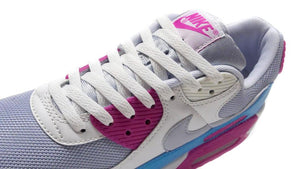 NIKE (WMNS) AIR MAX 90 GREY/SUMMIT WHITE/PINK/BLUE  6