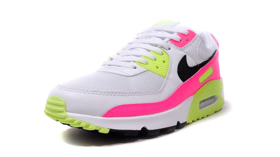 NIKE (WMNS) AIR MAX 90 WHITE/BLACK/PINK/GHOST GREEN  1