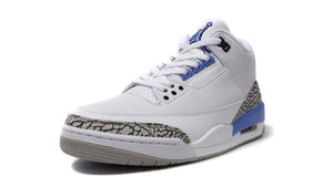 NIKE AIR JORDAN 3 RETRO WHITE/VALOR BLUE-TECH GREY  1