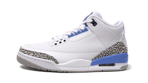 NIKE AIR JORDAN 3 RETRO WHITE/VALOR BLUE-TECH GREY  3