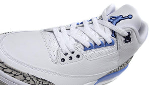 NIKE AIR JORDAN 3 RETRO WHITE/VALOR BLUE-TECH GREY  6
