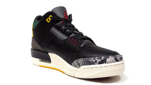 "JORDAN BRAND AIR JORDAN 3 RETRO SE ""ANIMAL INSTINCT 2.0"" ""MICHAEL JORDAN"" BLACK/BLACK/WHITE/GORGE GREEN/VARSITY RED 5"