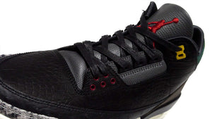"JORDAN BRAND AIR JORDAN 3 RETRO SE ""ANIMAL INSTINCT 2.0"" ""MICHAEL JORDAN"" BLACK/BLACK/WHITE/GORGE GREEN/VARSITY RED 6"