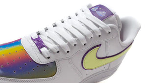 NIKE (WMNS) AIR FORCE 1 EAS WHITE/BARELY VOLT/HYPER BLUE/PURPLE/WASHED CORAL  6