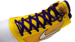 "NIKE LEBRON VII QS ""LOS ANGELES LAKERS"" ""LEBRON JAMES"" COURT PURPLE/WHITE/AMARILLO 6"