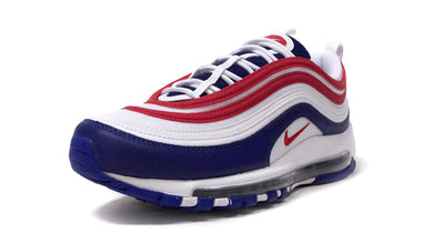 NIKE AIR MAX 97  WHITE/UNIVERCITY RED/DEEP BLUE 1