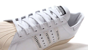 "adidas SUPERSTAR80S ""HUMAN MADE""  WHT/NAT/RED 6"