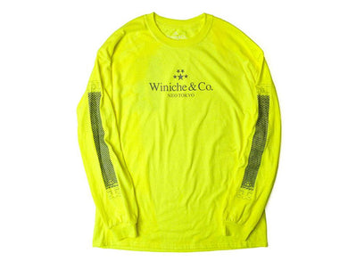 Winiche & Co. x mita sneakers GOODS NEOTOKYO HYBISIBILITY L/S TEE N.YEL1