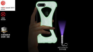 "GOODS Palmo x mita sneakers for iPhone 8 Plus & iPhone 7 Plus GID/WHT ""GLOW IN THE DARK""3"