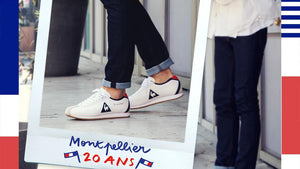 "le coq sportif MONTPELLIER LEATHER BLK/WHT/GLD/GUM ""LIMITED EDITION for LE CLUB""7"