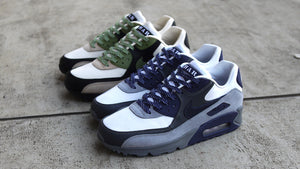 "NIKE AIR MAX 90 NRG ""LAHAR"" ""LIMITED EDITION for NONFUTURE"" LT CREAM/ALLIGATOR-PALE IVORY-BLACK-WHITE 7"