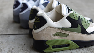 "NIKE AIR MAX 90 NRG ""LAHAR"" ""LIMITED EDITION for NONFUTURE"" LT CREAM/ALLIGATOR-PALE IVORY-BLACK-WHITE 10"