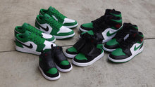 画像をギャラリービューアに読み込む, NIKE SKY JORDAN 1 PS BLACK/BLACK/PINE GREEN/GYM RED  7