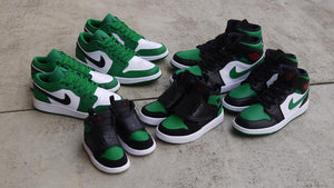 NIKE SKY JORDAN 1 PS BLACK/BLACK/PINE GREEN/GYM RED  7