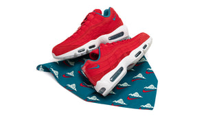 "NIKE AIR MAX 95 UTILITY NRG ""Mt.FUJI"" UNIVERSITY RED/BRIGHT SPRUCE/SUMMIT WHITE 7"
