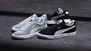 "Puma SUEDE VTG MIJ SILVER ""made in JAPAN"" QUARRY/PUMA SILVER 7"