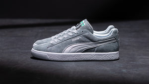 "Puma SUEDE VTG MIJ SILVER ""made in JAPAN"" QUARRY/PUMA SILVER 9"