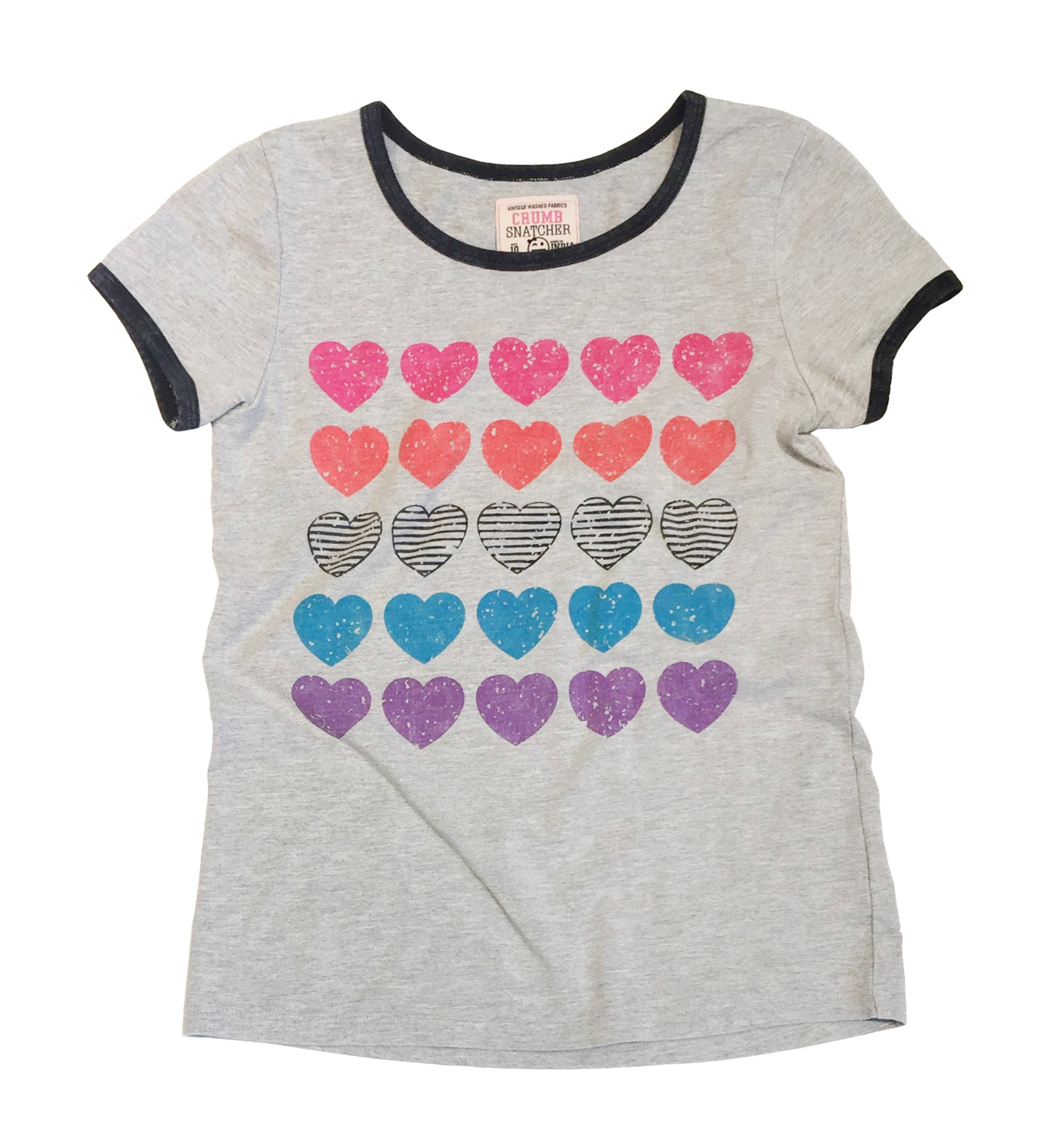 MULTICOLORED  HEARTS RINGER