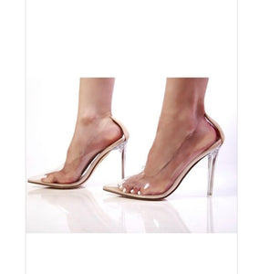 Nude Transparent Pump