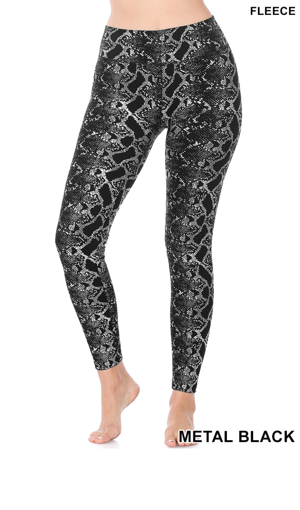 Metal Fun Snake Print Leggings