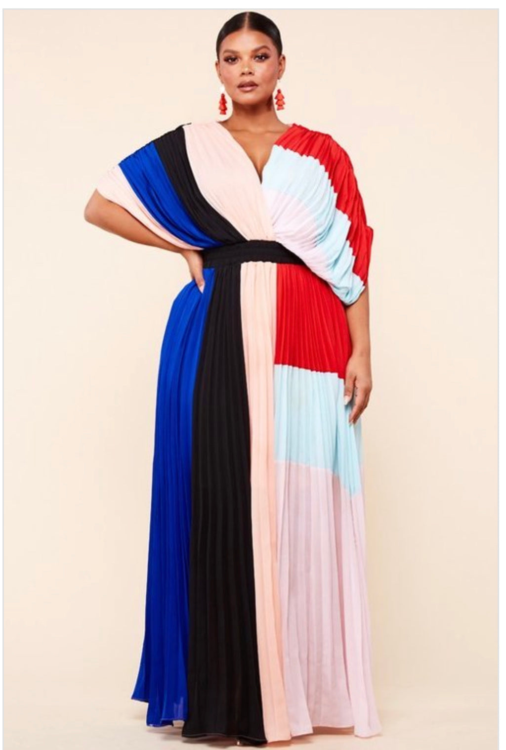 Draping Colorblock Maxi