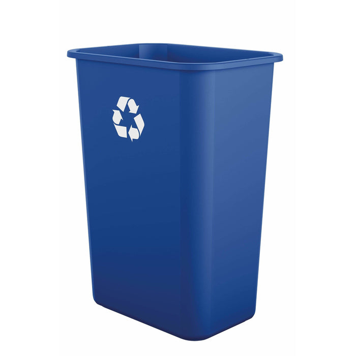 Suncast Commercial Desk-Side 10 Gallon Resin Recycling Bin - 12 Pack - TCIND1012BLR - Trash Cans Depot