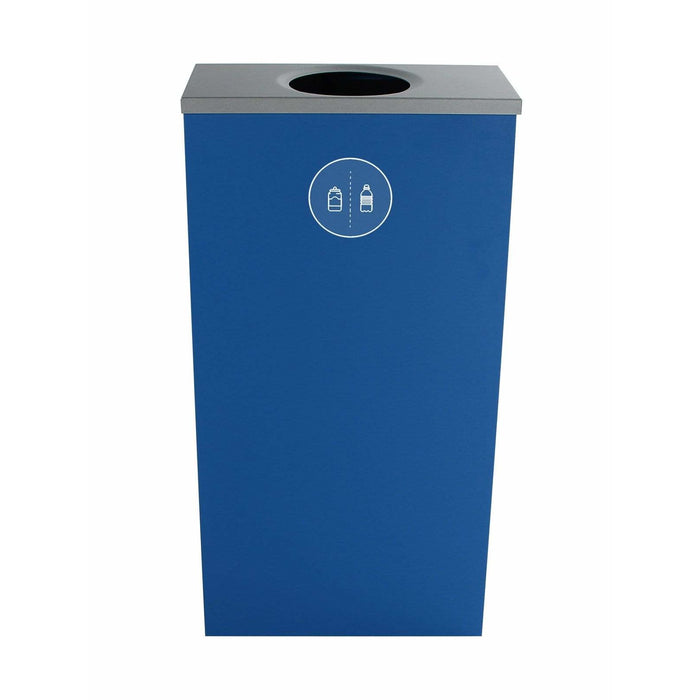 Busch Systems Spectrum 10 Gallon Slim Cube Single Stream Steel Recycling Receptacle - 101145 - Trash Cans Depot
