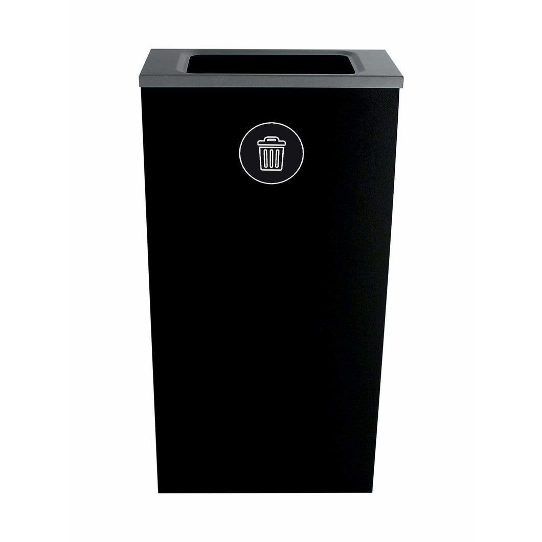 Busch Systems Spectrum 10 Gallon Slim Cube Single Stream Steel Trash Receptacle - 101158 - Trash Cans Depot