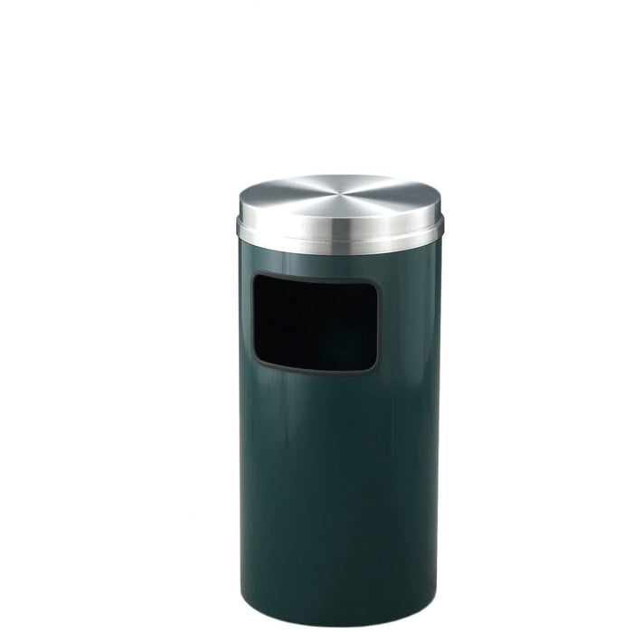 Glaro Mount Everest Side/Front Opening 10 Gallon Trash Can - C1566HG-SA - Trash Cans Depot
