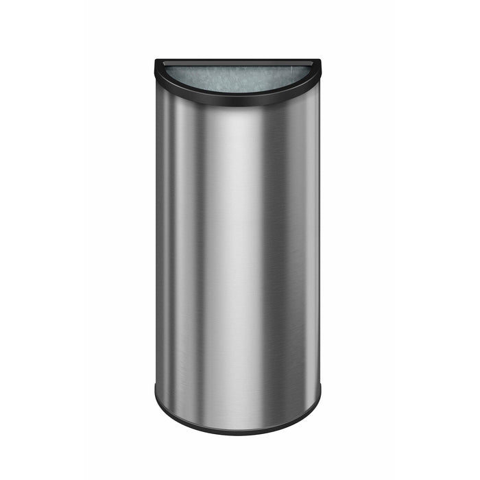 Suncast Commercial Crescent Open Top 12 Gallon Stainless Steel Trash Can - MTCRES1202 - Trash Cans Depot