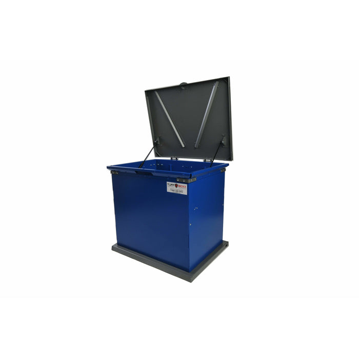 TuffBoxx Bruin Animal Resistant 135 Gallon Steel Trash Receptacle - 453-001 - Trash Cans Depot