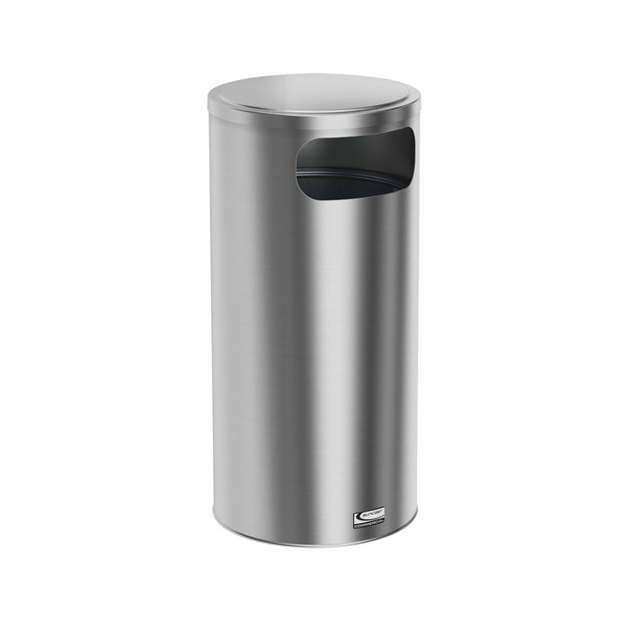 Suncast Commercial Accent Side Load 15 Gallon Stainless Steel Trash Can - MTCSS1501 - Trash Cans Depot