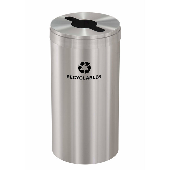Glaro Single Purpose Key Hole 16 Gallon Recycling Bin - M-1532SA-SA - Trash Cans Depot