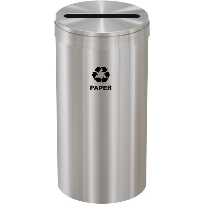 Glaro Single Purpose Slot 16 Gallon Recycling Bin - P-1532SA-SA - Trash Cans Depot